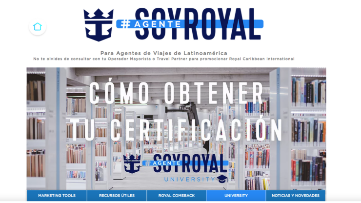 Royal Caribbean anuncia Soy Agente Royal University